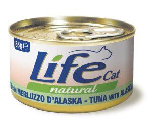Life pet cat tonno con merluzzo d'alaska 85 g.