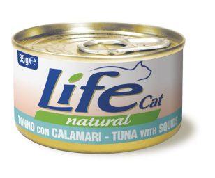 Life pet cat tonno e calamari 85 g.