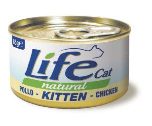 Life pet cat kitten pollo 85 g.