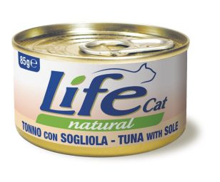 Life pet cat tonno con sogliola 85 g.