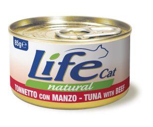Life pet cat tonno con manzo 85 g.