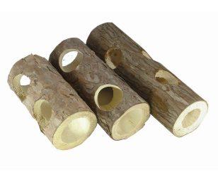 Tubo di legno naturale cm 20.