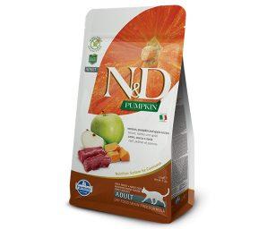 N&d cat pumpkin venison & apple adult 300 g.