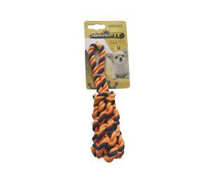 Cotonosso mini treccia cm 19 arancio blu.