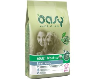 Oasy dry dog adult medium agnello 3 kg.