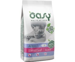 Oasy dry cat adult sterilized salmone 1