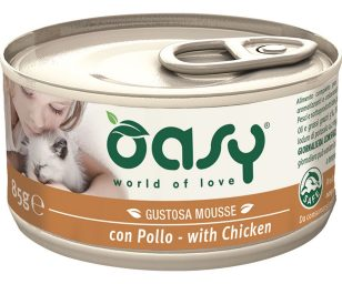 Oasy wet cat mousse con pollo 85 g.