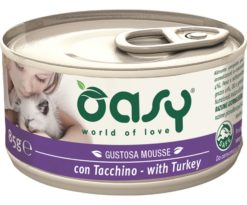 Oasy wet cat mousse con tacchino 85 g.