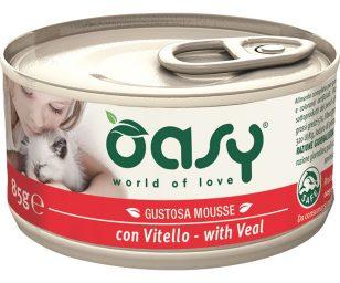 Oasy wet cat mousse con vitello 85 g.