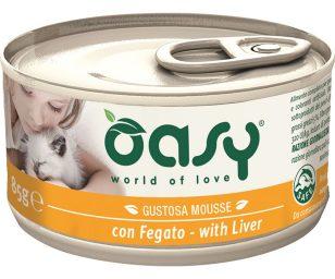 Oasy wet cat mousse con fegato 85 g.