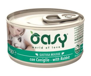 Oasy wet cat mousse con coniglio 85 g.