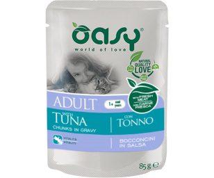 Oasy wet cat bocconcini adult tonno 85 g.