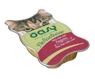 Oasy wet cat delicatesse paté con fegato 85 g.