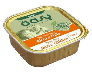 Oasy wet cat patè ricco di pollo 100 g.