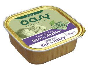 Oasy wet cat patè ricco di tacchino 100 g.