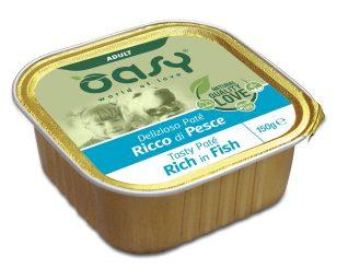 Oasy wet dog patè ricco di pesce 150 g.