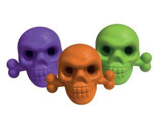 Gioco gomma scary skull cm 11.