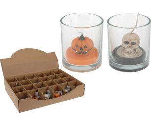 Vaso candela halloween cm 7 assortiti.