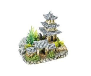 Tempio asiatico con piante cm 18
