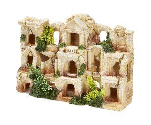 Citta' rovine con piante cm 28x9