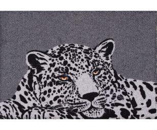 Tappeto clean keeper leopardo grigio cm 50x70.