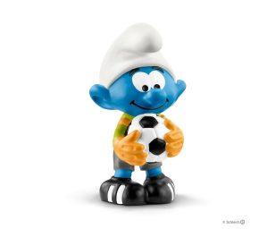 Puffi calciatore portiere.