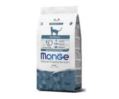 Monge natural superpremium gatto sterilizzato è un alimento completo e bilanciato per gatti adulti.