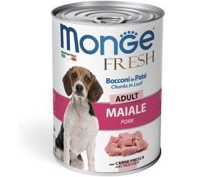 Alimento completo e bilanciato per cani adulti. L'aggiunta di carne fresca di maiale garantisce l'alta digeribilità oltre all'alto valore biologico della ricetta.