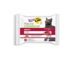 Trainer natural cat adult with beef 4x85 g.