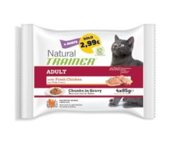 Trainer natural cat adult with chicken 4x85 g.