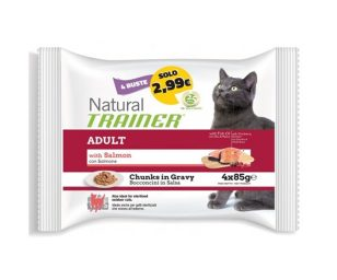 Trainer natural cat adult with salmon 4x85 g.