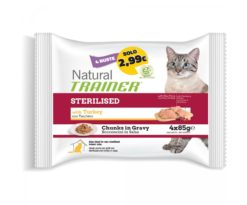 Trainer natural cat sterilised with turkey 4x85 g.