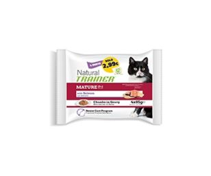 Trainer natural cat senior with salmon 4x85 g.