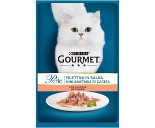 Gourmet perle trionfo di salsa con salmone.