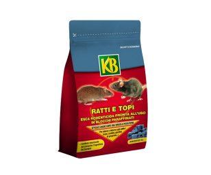 Kb rodenticida in blocchi 300 g.