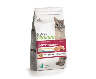 Trainer natural cat adult sterilized fresh white meats 3 kg.