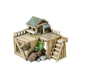 Casa con piante cm 15x17x14h.