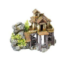 Casa con rocce cm 23x13x18h.
