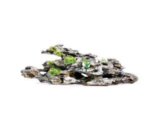 Roccia in legno con piante cm 49x12