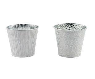 Vaso bianco argento cm 14