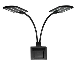 Plafoniera twin led nera.