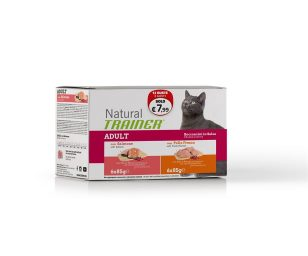 Trainer natural cat adult pack pollo salmone 12x85 g.