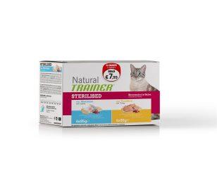 Trainer natural cat sterilized pack merluzzo tacchino 12x85 g.