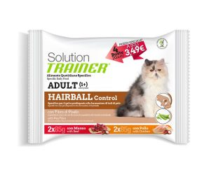 Trainer solution cat hairball flowpack 4x85 g.