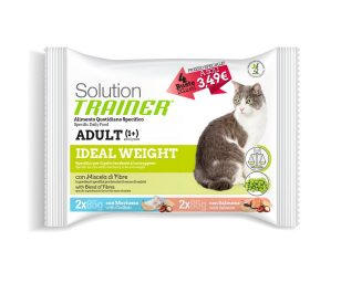 Trainer solution cat ideal weight flowpack 4x85 g.