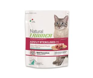 Trainer natural cat adult sterilized ham 300 g.