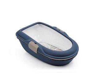 Stefanplast furba chic blu navy/totora cm 39x59x22h.