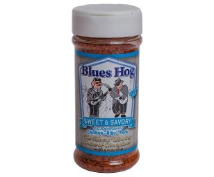 Blues hog bbq 'sweet & savory' seasoning.