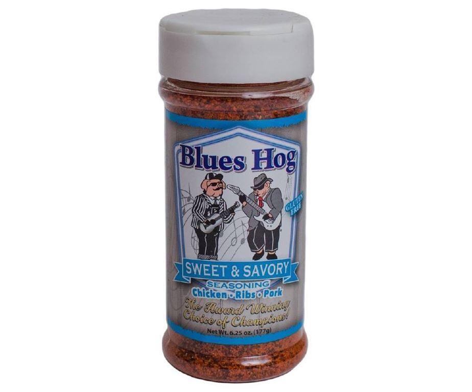 Blues hog bbq 'sweet & savory' seasoning.