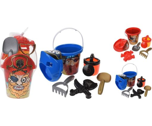 Set giochi mare 6 pz pirata.